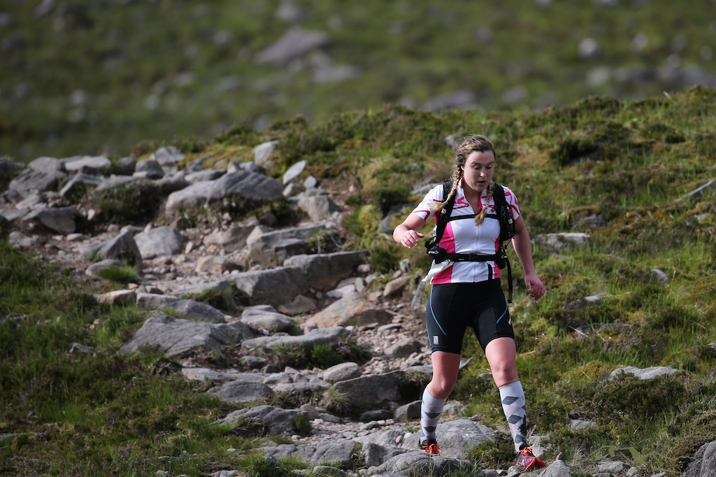 2015 Celtman Women's winner Siobhan Prise who was also 14th overall with a combined time of 14 hrs 1 mn 44 secs