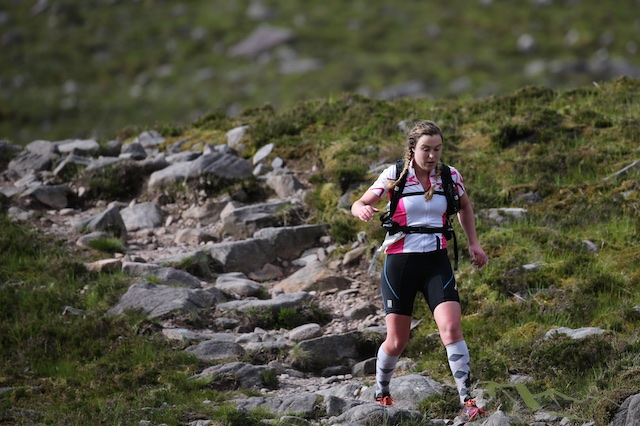 However Siobhan regained the lead during the run over the Coulin Pass and then over Beinn Eighe.