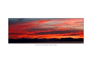 Sunrise from Sleat, Isle of Skye