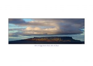 Isle of Eigg from Aird, Isle of Skye