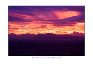 Dawn Breaks Across the Sound of Sleat, Isle of Skye