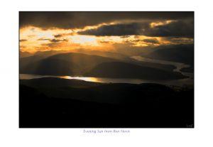 Evening Sun from Ben Nevis