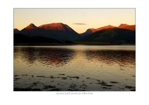 Across Loch Leven to Glen Coe