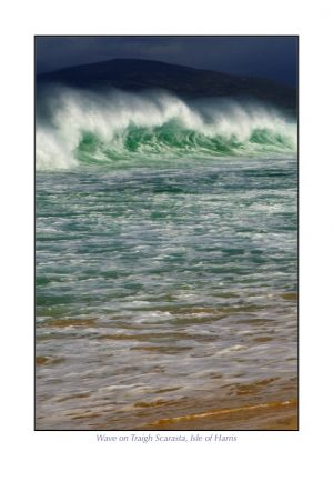 Wave on Traigh Scarasta, Isle of Harris